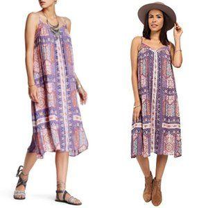 Lucky Brand Tapestry-Print Boho Shift Dress Sz M